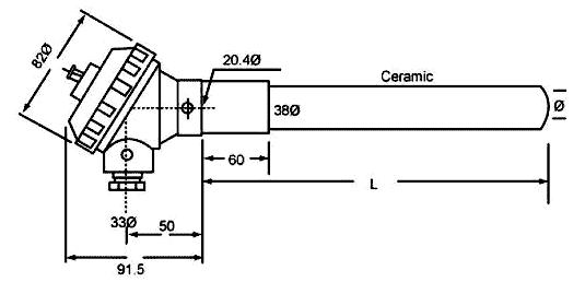 termocuplas tipo k con cabezal mt-109 maxthermo medidas